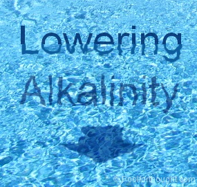 lowering swimming pool total alkalinity