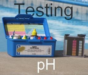 testing swimming pool ph
