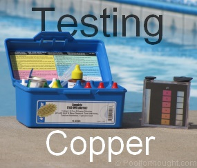 how to test swimming pool copper