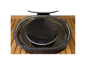 The Primo porcelain glazed pizza stone will fit any grill with an inner diameter greater than 16 inches.