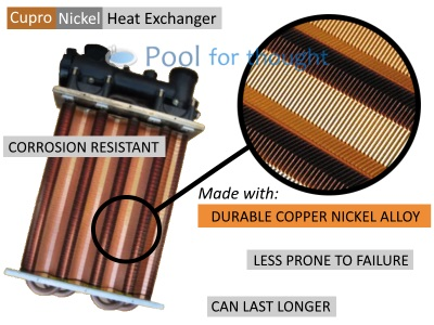 Hayward H400FDN Heat Exchanger Cupro Copper Nickel Gas Pool Heater