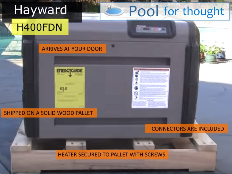 Hayward H400DFDN Shipping Delivery Pallet Gas Pool Heater